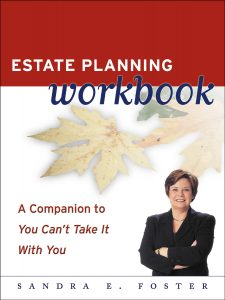 Cover of the Estate Planning Workbook by Sandra Foster