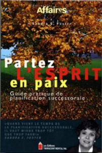 Front Cover of Partez l'esprit en paix author Sandra Foster published by Transcontinental